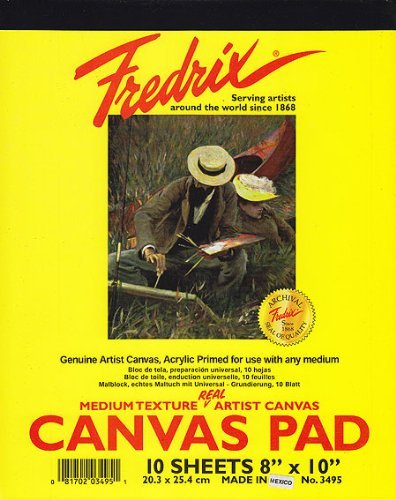 Fredrix Canvas Pad (Fredrix Canvas Pad - 8x10 Pad (10 Sheets) by Fredrix)