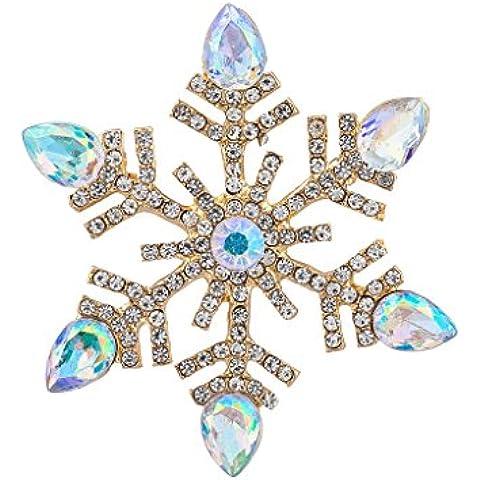 Lux accessori Embellished christmad vacanza Spilla a forma di fiocco