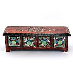 Wooden Ceramic Blue Pottery 4 Drawer Set Bowl 264