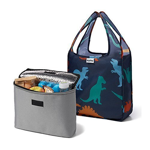 rume-bags-mini-tote-with-2cool-insulated-lunch-bag-cooler-set-of-2-dino-by-rume-bags