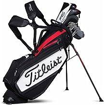 Titleist Tour Staff Stand Bolsa de Golf, Unisex Adulto, Blanco / Negro / Rojo, Talla Única