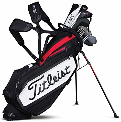 Titleist Tour Staff Stand Sac de Golf, Mixte Adulte, Blanc/Noir/Rouge, Taille Unique