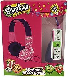 Shopkins HP2-04033 Kid Friendly Headphones, Pink