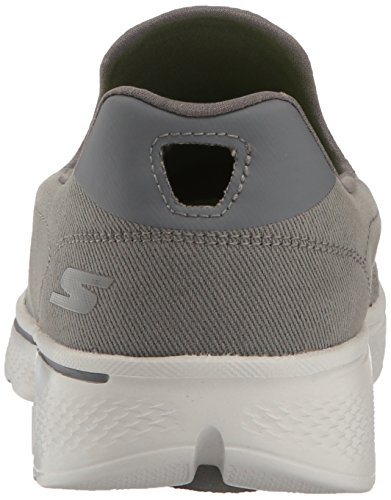 Skechers Go Walk 4, Scarpe da Ginnastica Basse Uomo Carbone