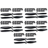 #5: 5Pairs ARRIS 6x4.5 Inch Plastic 2-Blade 6045 Propeller for FPV Mini 250 Racing Quadcopter2 (5CW + 5CCW) , Color May Vary