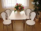 Stuhl Küchenstuhl Bistrostuhl mit Chromfuß ohne Tisch Farbenauswahl (Weiß)