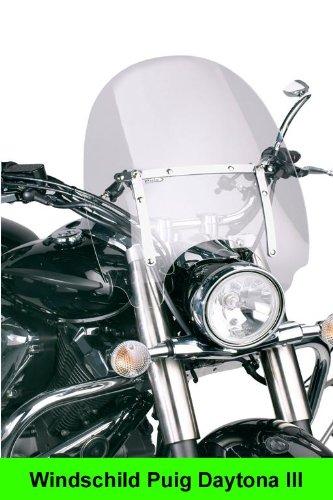 Puig Daytona III - Pantalla para Moto Custom, Color Transparente