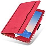 iPad Air 2 Case - The Original Red & Tan Leather Smart Cover for iPad Air and Air 2 (5th and 6th Gen)