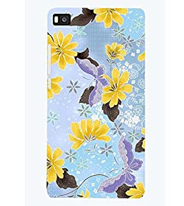 PRINTSWAG FLOWERS PATTERN Designer Back Cover Case for HUAWEI P8