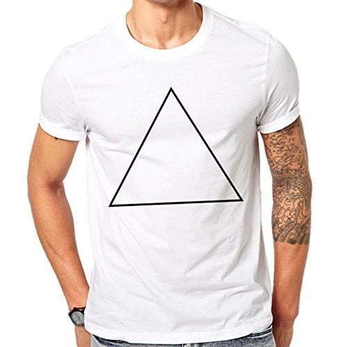 Illuminati Triangle Art Majestic Black Triangle Sharp Herren T-Shirt Weiß