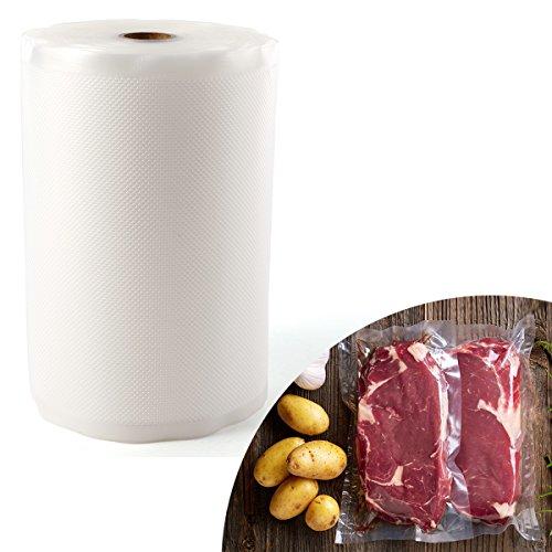 1Rolle-20cmx 30m - Strukturierte Vakuumfolie für VAC Sous Vide Food Saver Aufbewahrungsbeutel