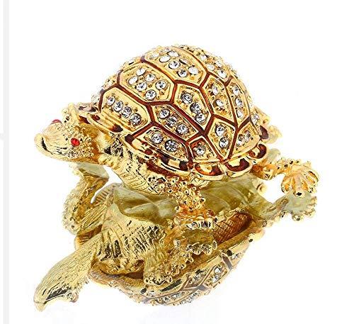 prbll Ornamente Bejeweled Mutter Und Baby Schildkröte Schmuck Schmuckschatulle Mit Kristallen Startseite Hochzeit Dekorative Geschenke Für Damen Mädchen Bejeweled Damen