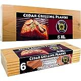 6 XL Tablas de Cedro para Barbacoa - Paquete de 6 | 6 XL Cedar Grilling Planks - 6 Pack