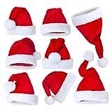 5pcs Chapeau de Noël Christmas Hat Père Noël Bonnet fête familiale cadeau Bonnet pour Adulte Enfant Pas Cher