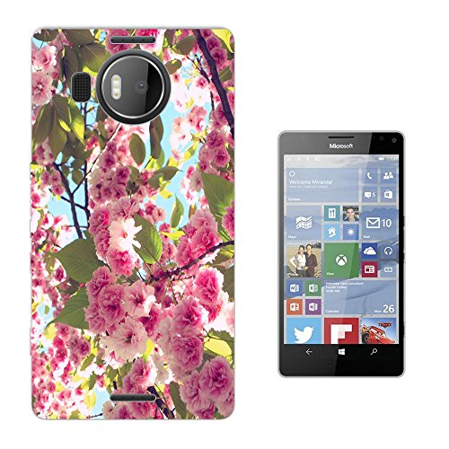 002677 - Beautiful Pink Floral Roses flowers Bush Shabby Chic Floral Roses flowers Design Microsoft Nokia Lumia 950 XL Fashion Trend Silikon Hülle Schutzhülle Schutzcase Gel Rubber Silicone Hülle