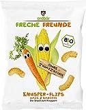 """erdbär Freche Freunde """"Knusper-Flippies Mais & Karotte"""", 10er Pack (10 x 25 g)"""