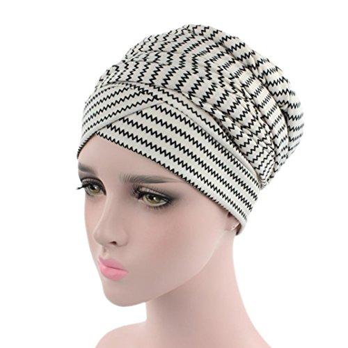 Mitlfuny Damen Muslim Stretch Turban Hut Chemo Cap Haarausfall Kopftuch Wrap Hijab Cap Long Tail Hut Kopftuch Wrap FüR Chemo, Krebs, Haarausfall, Schlaf, Make Up (F)