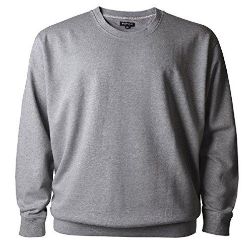Redfield Sweatshirt hellgrau melange Übergröße, XL Größe:7XL