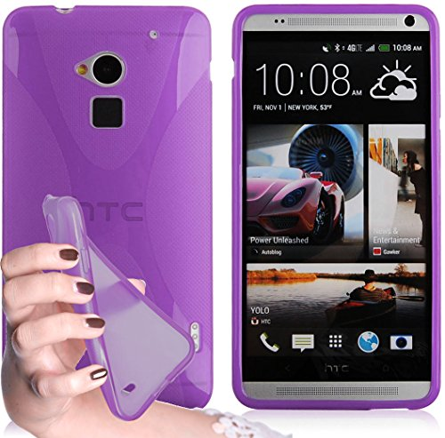cadorabo-tpu-x-line-style-silikon-hulle-fur-htc-one-max-case-cover-schutzhulle-bumper-in-flieder-vio