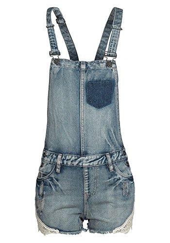 Sublevel Damen Shorts Jeans Latzshorts LSL-128 lightblue XL