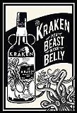 BlechschilderWelt Targa in Metallo Kraken Spiced Rum Beast in Your Belly