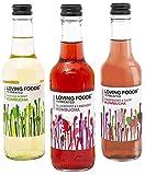 Loving Foods *Organic* Kombucha Mixed Case (330ml) Raw, Unpasteurised & Bursting with Beneficial Live Bacteria (6 x Bottles)