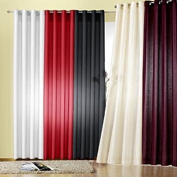 Amazonde Gardinen Modern Vorhang Mit Sen Farbe Flieder Hhe 245cm X Breite 140cm Senschal Neu