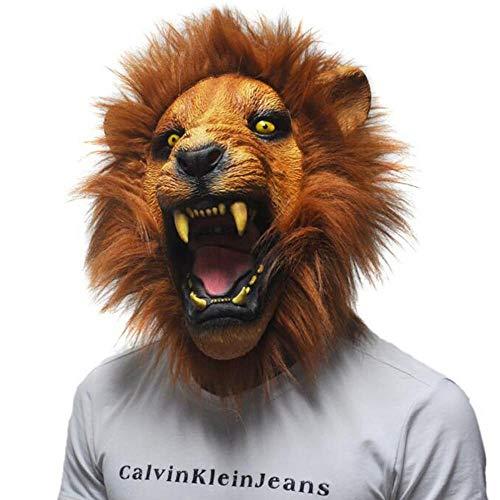 Lion Head Maske Funny Creepy Cosplay Animal Komödie -