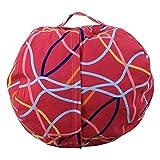 Plüsch-Spielzeug-Kleidung Quilts Organizer, großer Korb für Stofftiere, Kuscheltiere, Wäsche, Bettwäsche, Kinderkleidung, verdoppelt sich als Sitzsack, 2