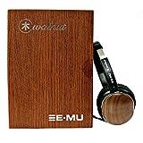 E-MU Walnut Lightweight Audiophile Headphones