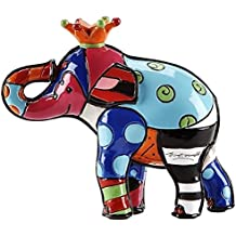 Romero Britto Mini Figur - King Elefant - Pop Art aus Miami - orange #334447