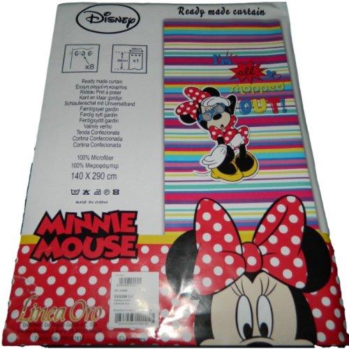 Disney minnie tenda cameretta con borchie in microfibra 140x290 cm g829
