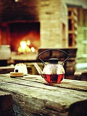 QDO Tea 4 U Théière avec Poignée Verre Borosilicate