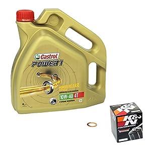 Castrol power1 (10W – 40 huile de yamaha yZF-r1 anniversary modèles de football-&moteur, k n filtre à huile et joint d'étanchéité pas cher