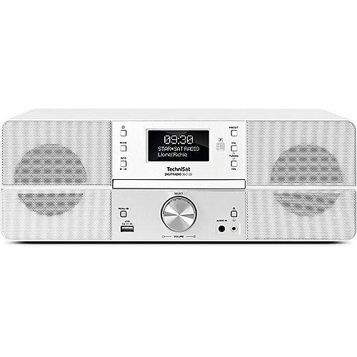 TechniSat DIGITRADIO 360 CD Digital-Radio mit CD-Player, 2 x 5 Watt Stereo-Lautsprecher, Display, Fernbedienung, DAB+, weiß