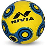 Nivia Spinner Rubber Moulded Football, Youth Size 5 (Yellow/Blue)