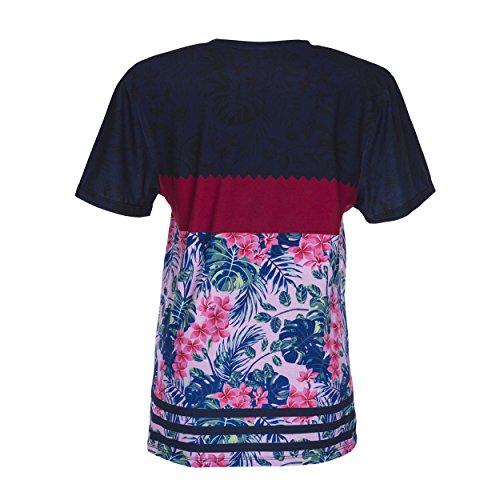 Who Cares oversize T-shirt Fullprint One Size FUCHSIA FLOWER