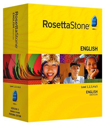 Rosetta Stone Version 3: Englisch (Amerikanisch) Stufe 1,2,3,4&5 Set Persönliche Edition inkl....