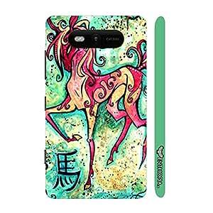 Nokia Lumia 820 CHINESE ZODIAC HORSE designer mobile hard shell case by Enthopia