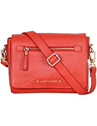 JUSTANNED Women's Sling Bag (Red)