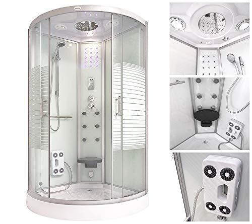 Home Deluxe White Pearl 90×90 cm Duschtempel, inkl. Dampfsauna und komplettem Zubehör - 2