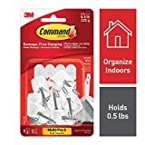 Picture Of Command 17067-9ES Kitchen Utensil Hooks with Command Adhesive Strips - Small, White, Value Pack