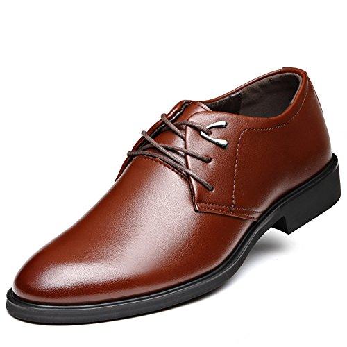 Extra-large scarpe in primavera/ Inghilterra testa scarpe/Scarpe casual business-B Lunghezza (Nero Smooth Pu Bambini Scarpe)