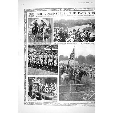1916 Señor French Creagh Del Guardia Nacional De Los Soldados Desborough De Los Voluntarios De La Guerra