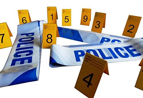 izei Absperrband und Foto Beweis Rahmen (Einweg) 1 bis 10 (Polizei Absperrband)