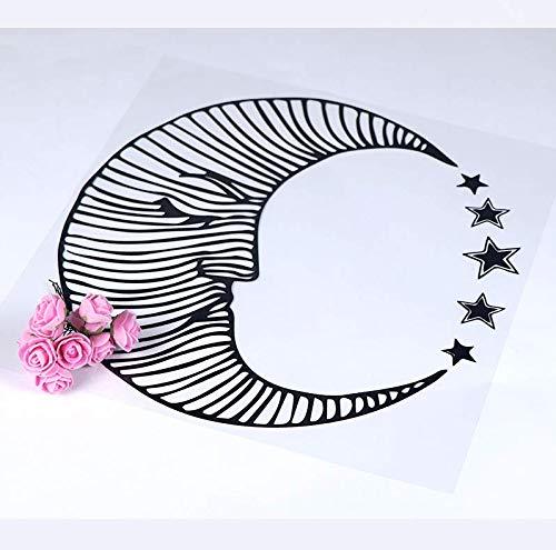 limicry Mond Lotus Blume Meditation Wandtattoos Wohnzimmer Dekoration Vinyl Wandaufkleber Für Yoga Studio Decor Kunst AufkleberWanddekorSchwarzL 43 cm X 43 cm