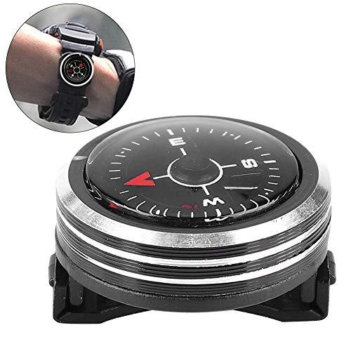 MAGT Tauchkompass Mini Leichter Abnehmbarer Handgelenkkompass Aluminiumlegierung Tauchkompass Für Survival Camping Outdoor Sports Tool Zubehör