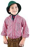 Ederer Max Isar Trachten Kinder Trachtenhemd 52915 rot 80