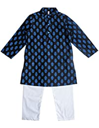 Campana Boys Kurta Pyjama Set - Black