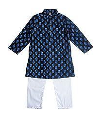Campana Boys Kurta Pyjama Set - Black